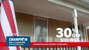 Champion Siding TV Spot, 'Transform Your Home: 30% Off Siding' - Thumbnail 4