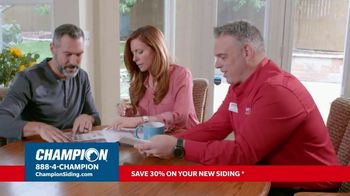 Champion Siding TV Spot, 'Transform Your Home: 30% Off Siding'