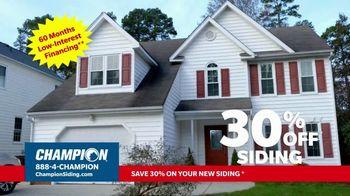Champion Siding TV Spot, 'Transform Your Home: 30% Off Siding' - Thumbnail 9
