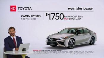 2021 Toyota Camry Hybrid TV Spot, 'Commentary: Camry Hybrid' [T2] - Thumbnail 1