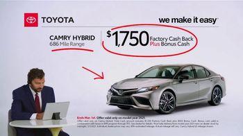 2021 Toyota Camry Hybrid TV Spot, 'Commentary: Camry Hybrid' [T2] - Thumbnail 3