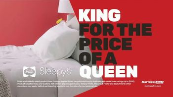 Mattress Firm Presidents Day Sale TV Spot, 'King for the Price of a Queen' - Thumbnail 3