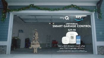 Key by Amazon TV Spot, 'Holidays: In-Garage Delivery: Smart Garage Hub + $30 Credit'