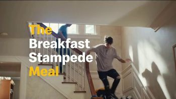 McDonald's TV Spot, 'Breakfast Stampede: Sausage Biscuit or Sausage McMuffin With Hash Browns'