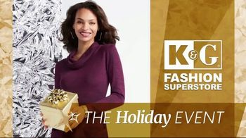K&G Fashion Superstore Holiday Event TV Spot, 'Women's Sportswear, Activewear, Dresses and Boots'