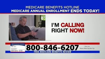 Medicare Benefits Hotline TV Spot, 'Annual Enrollment Period: Final Day' - Thumbnail 9