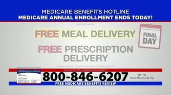 Medicare Benefits Hotline TV Spot, 'Annual Enrollment Period: Final Day' - Thumbnail 2