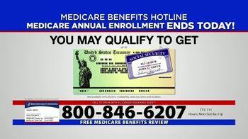 Medicare Benefits Hotline TV Spot, 'Annual Enrollment Period: Final Day' - Thumbnail 3