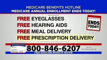 Medicare Benefits Hotline TV Spot, 'Annual Enrollment Period: Final Day' - Thumbnail 5