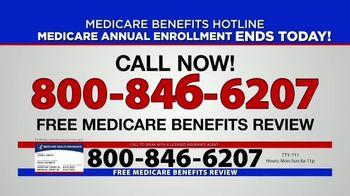 Medicare Benefits Hotline TV Spot, 'Annual Enrollment Period: Final Day' - Thumbnail 6