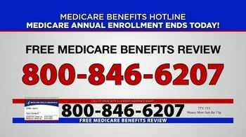 Medicare Benefits Hotline TV Spot, 'Annual Enrollment Period: Final Day' - Thumbnail 7