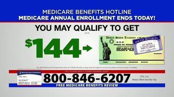 Medicare Benefits Hotline TV Spot, 'Annual Enrollment Period: Final Day' - Thumbnail 8