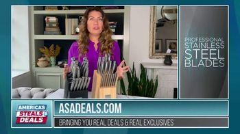 America's Steals & Deals TV Spot, 'Emeril Lagasse Knives' Featuring Genevieve Gorder