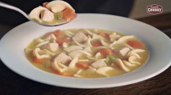 Campbell's Chunky Classic Chicken Noodle Soup TV Spot, 'Soup That Eats Like a Meal' - Thumbnail 4