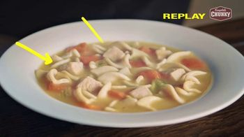 Campbell's Chunky Classic Chicken Noodle Soup TV Spot, 'Soup That Eats Like a Meal' - Thumbnail 5