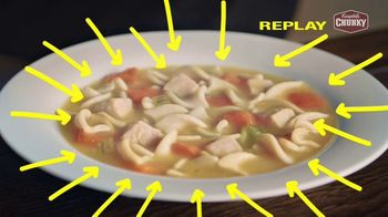 Campbell's Chunky Classic Chicken Noodle Soup TV Spot, 'Soup That Eats Like a Meal' - Thumbnail 7