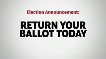 The Democratic National Committee TV Spot, 'Return Your Ballot Today'