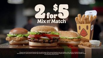 Burger King 2 for $5 Mix n' Match TV Spot, 'Drive Thru: $1 Delivery Fee' Featuring Daym Drops - Thumbnail 8