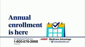 UnitedHealthcare AARP Medicare Advantage TV Spot, '2020 Annual Enrollment' - Thumbnail 1