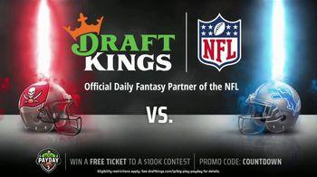 DraftKings Big Play Payday TV Spot, 'Lions vs. Buckaneers' - 2 commercial airings