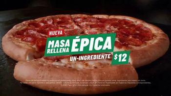 Papa John's Epic Stuffed Crust Pizza TV Spot, 'Masa rellena' [Spanish] - Thumbnail 8