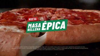 Papa John's Epic Stuffed Crust Pizza TV Spot, 'Masa rellena' [Spanish] - Thumbnail 7