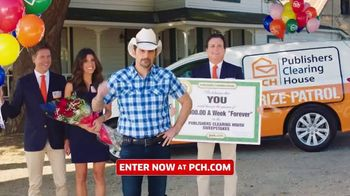 Publishers Clearing House TV Spot, 'Whole New Level: $5,000 a Week for Life' Featuring Brad Paisley
