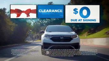 Happy Honda Days Sales Event TV Spot, 'Holiday Clearance: Nothing Due at Signing' [T2] - Thumbnail 2