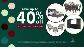 Ashley HomeStore New Years Clearance Sale TV Spot, 'Up to 40% Off and 0% Interest for Six Years' - Thumbnail 4