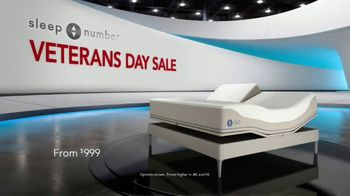 Sleep Number Veterans Day Sale TV Spot, 'Weekend Special: Save $1,000' - Thumbnail 1