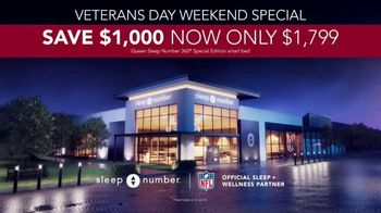 Sleep Number Veterans Day Sale TV Spot, 'Weekend Special: Save $1,000' - Thumbnail 7