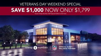 Sleep Number Veterans Day Sale TV Spot, 'Weekend Special: Snoring: Save $1,000' - Thumbnail 5