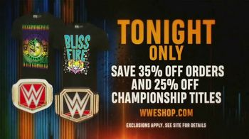 WWE Shop TV Spot, 'Bring It On: 35% Off Orders & 25% Off Championship Titles' - Thumbnail 4