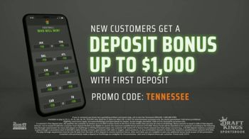 DraftKings Sportsbook TV Spot, 'Tennessee Knows' - Thumbnail 7