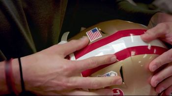 USAA TV Spot, 'Salute to Service: Helmet Decal' Featuring George Kittle - 4 commercial airings
