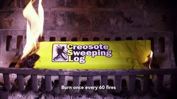 Creosote Sweeping Log TV Spot, 'So Easy to Clean Your Chimney' - Thumbnail 4