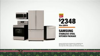 The Home Depot Black Friday Prices TV Spot, 'Holiday Help: Samsung Kitchen Package for $2,348' - Thumbnail 8