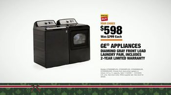 The Home Depot Black Friday Prices TV Spot, 'Holiday Help: GE Laundry Pair for $598 Each' - Thumbnail 8