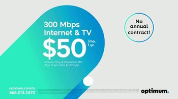 Optimum TV Spot, 'Best Offer Ever: Free Installation and Visa Prepaid Card'