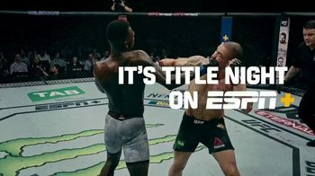 ESPN+ TV Spot, 'UFC 259: Blachowicz vs. Adesanya' Song by Kid Cudi, Skepta & Pop Smoke