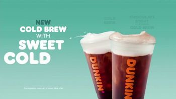 Dunkin' Cold Brew with Sweet Cold Foam TV Spot, 'Perfect Top: $3' - Thumbnail 6
