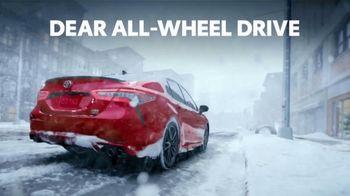 2021 Toyota Camry TV Spot, 'Dear All-Wheel Drive' [T2] - Thumbnail 1