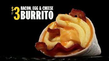 Hardee's Bacon, Egg & Cheese Burrito TV Spot, 'Wake Up'