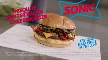 Sonic Drive-In Mesquite Butter Bacon Cheeseburger TV Spot, 'Warn People' - Thumbnail 10