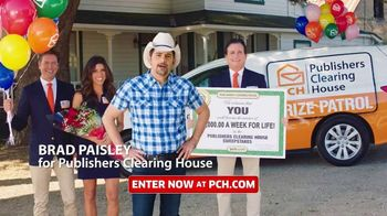 Publishers Clearing House TV Spot, 'Helping Change Lives: $7,000 a Week' Featuring Brad Paisley