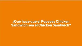 Popeyes Chicken Sandwich TV Spot, 'El sándwich' [Spanish]