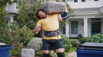 GEICO TV Spot, 'Worlds Strongest Man Takes on the Recycling' Featuring Martins Licis - Thumbnail 4