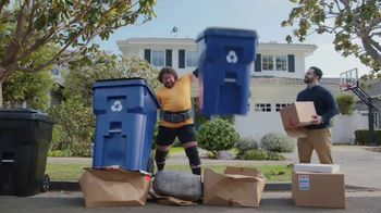 GEICO TV Spot, 'Worlds Strongest Man Takes on the Recycling' Featuring Martins Licis - Thumbnail 5