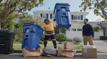 GEICO TV Spot, 'Worlds Strongest Man Takes on the Recycling' Featuring Martins Licis - Thumbnail 6