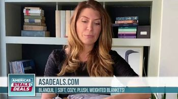 America's Steals & Deals TV Spot, 'BlanQuil Weighted Blanket' Featuring Genevieve Gorder